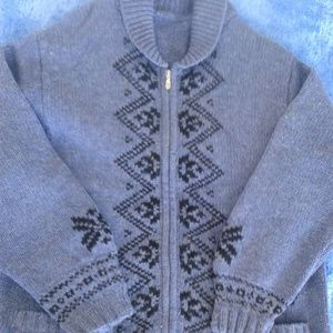warm wool knitted jacket